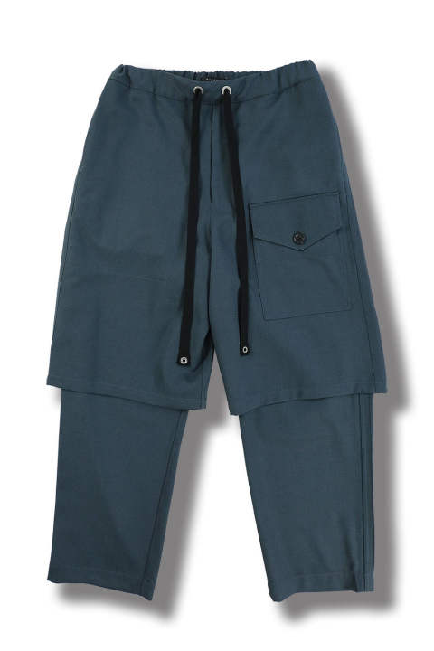LAYERED TROUSERS(SLATE BLUE)