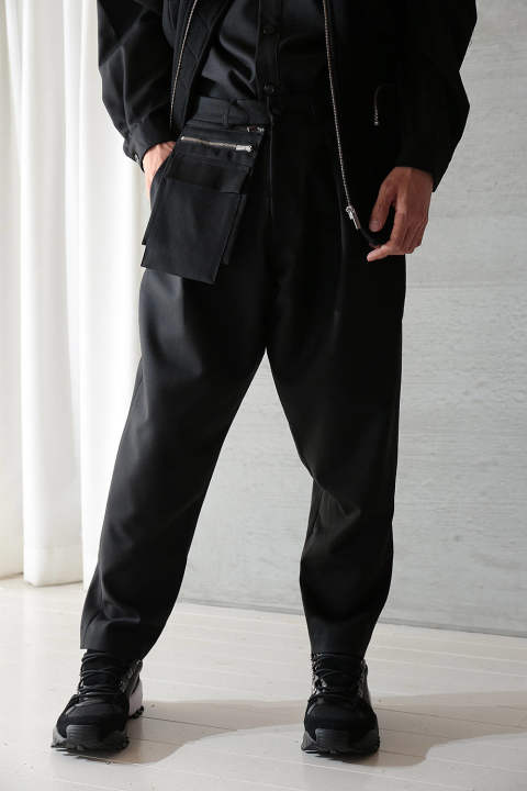 "UTILITY TROUSERS ""RABATS""(BLACK)"
