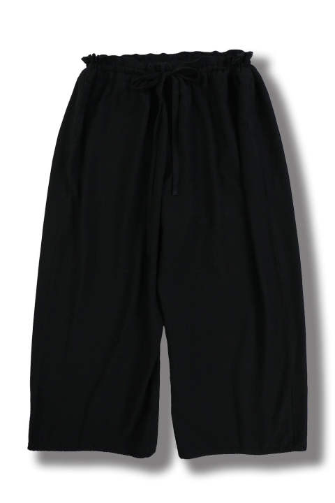RAYON WOOL WIDE PANTS(BLACK)
