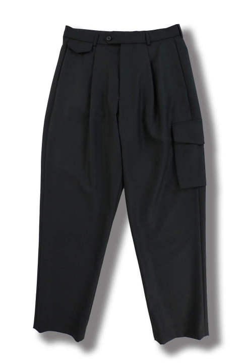 "RELAXED TROUSERS ""DROIT""(BLACK)"