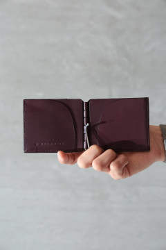 "MINI WALLET""HINGE""(BORDEAUX)"