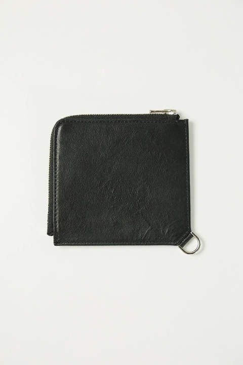 【SENTI】L ZIP COMPACT WALLET(BLACK)
