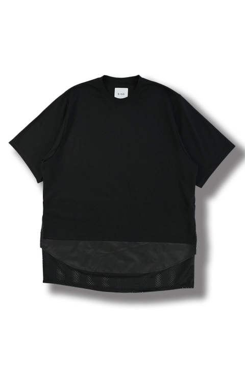 THREE LAYERED T-SHIRT(BLACK/BLACK)