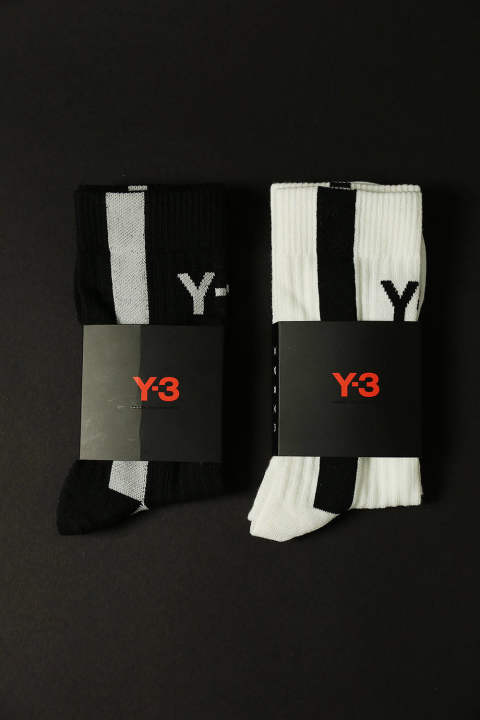 Y-3 LOGO SOCKS(2colors)