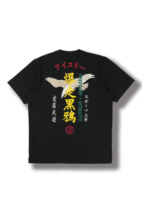U CRFT GRAPHIC SS TEE(BLACK-COLOR)