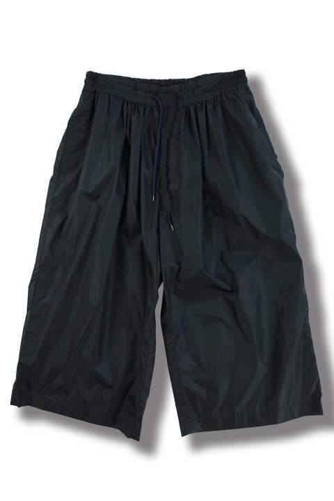 WIDE GATHERED PANTS(NAVY)