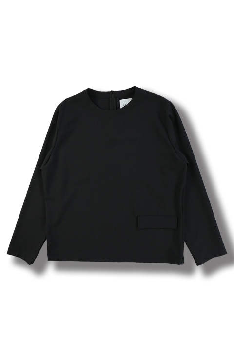 PULLOVER LONG SLEEVE TOP(BLACK)