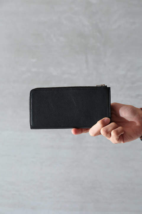 【SENTI】L ZIP LONG WALLET(BLACK)