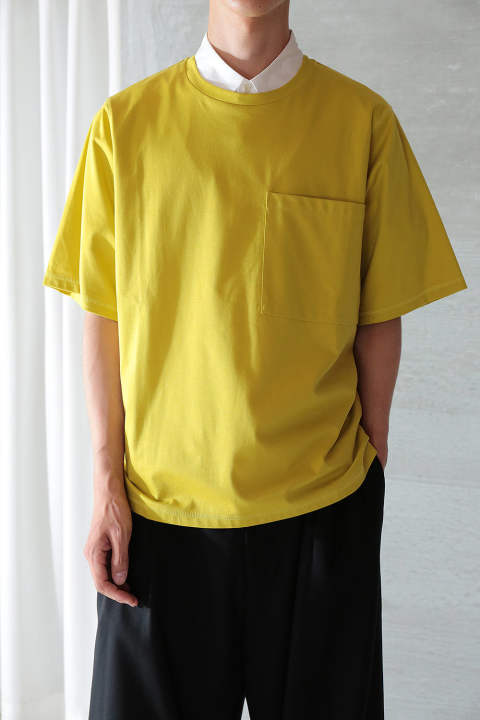 BIG POCKET T-SHIRT(YELLOW)