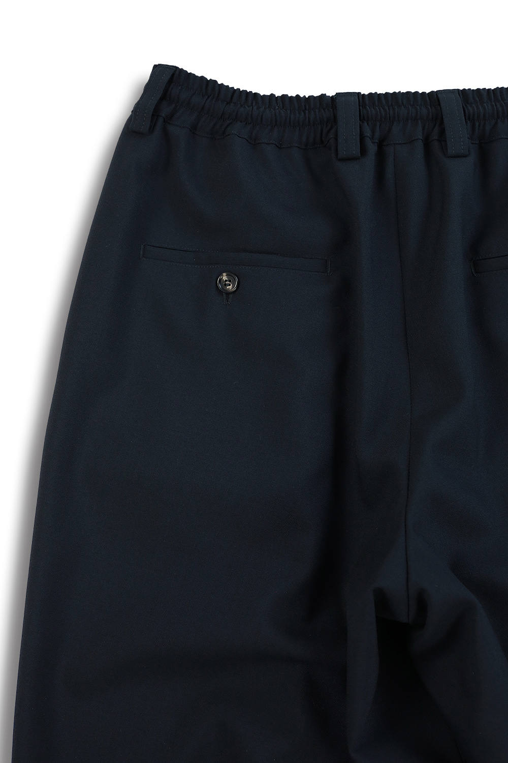 TROPICAL WOOL CROPPRED PANTS(BLUE BLACK)
