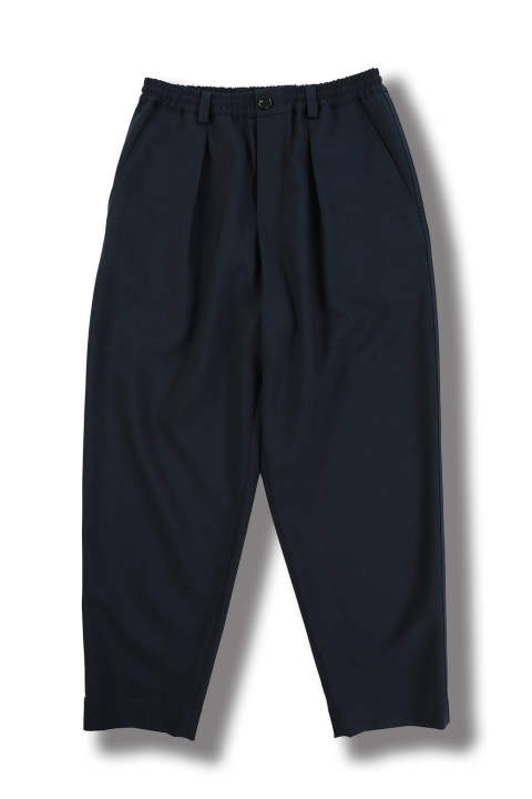 TROPICAL WOOL CROPPRED PANTS(NAVY)