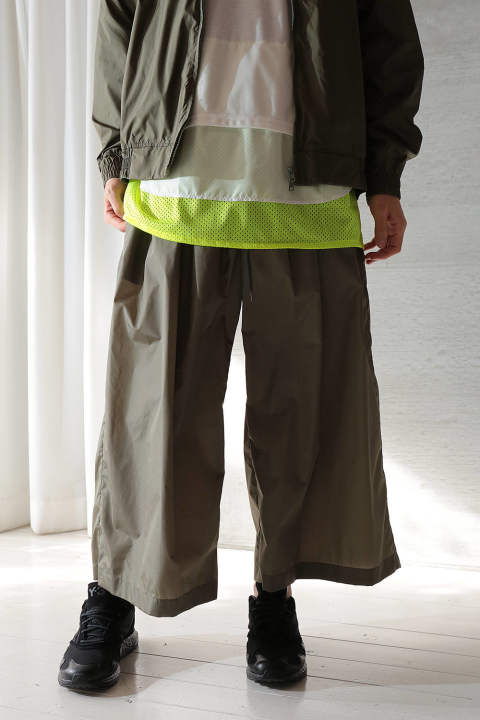 WIDE GATHERED PANTS(KHAKI)