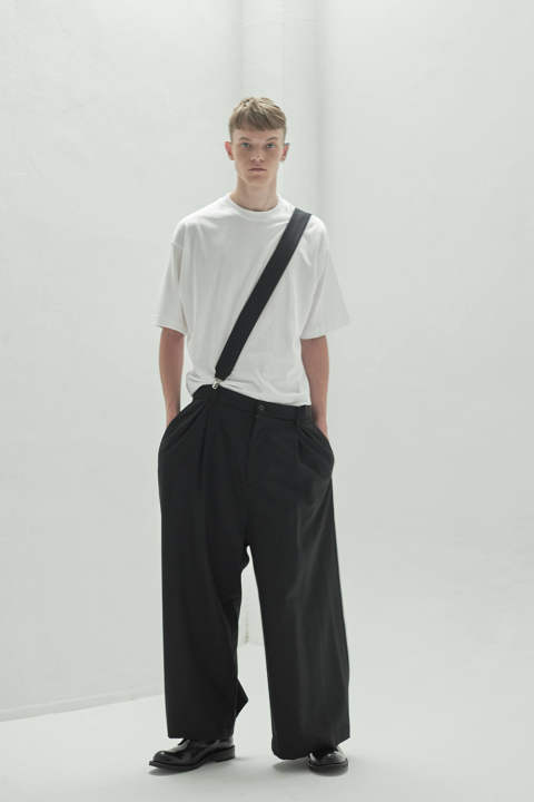 IDA SUSPENDERS WIDE PANTS(BLACK)