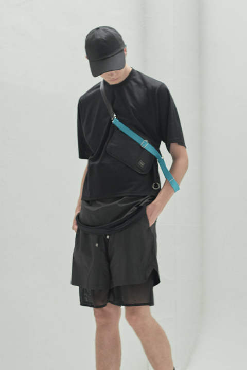 【ラスト1点】THREE LAYERED T-SHIRT(BLACK/BLACK)