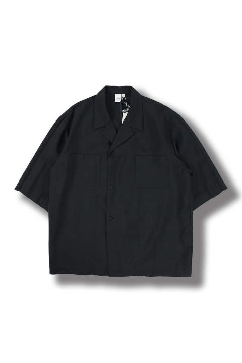 UN(I)FORM-OPEN COLLAR SEMI DOUBLE SHIRTS(NAVY)
