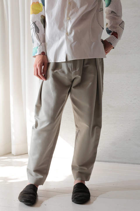 green gray pants