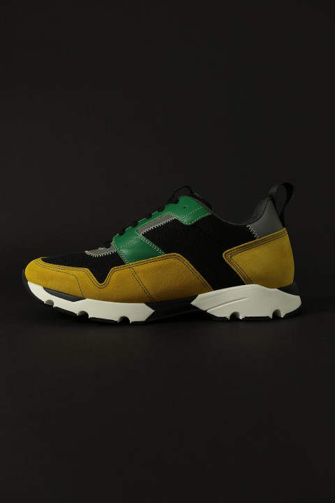 MULTI COLOR SNEAKER(BLACK/YELLOW)