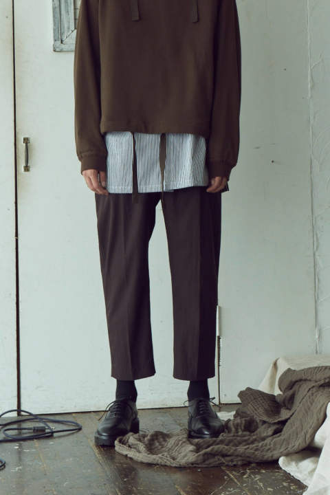 【ラスト1点】WIDE BELTED PANTS(BROWN)