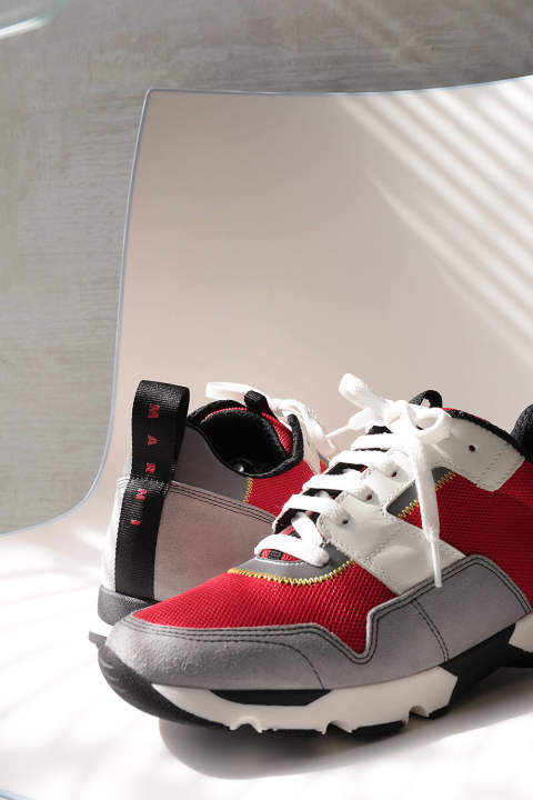 【ラスト1点】MULTI COLOR SNEAKER(ORANGE RED/STONE)