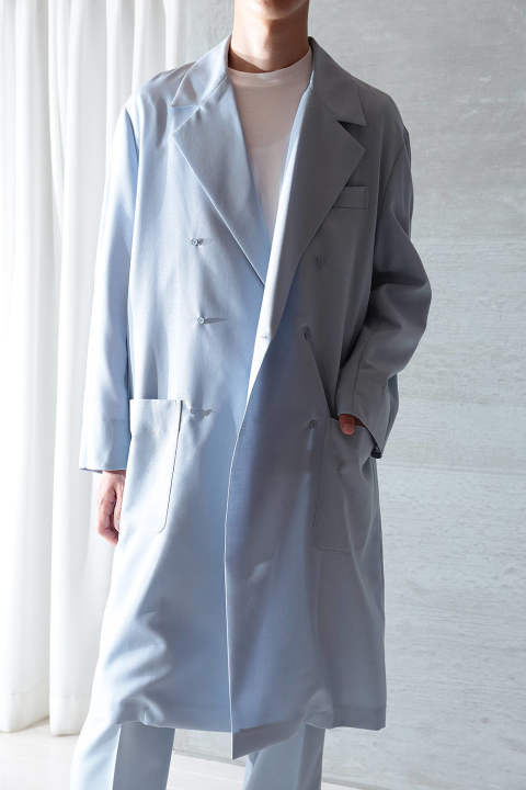 【3月上旬入荷予定】UN(I)FORM-DOUBLE COAT(LIGHT BLUE)