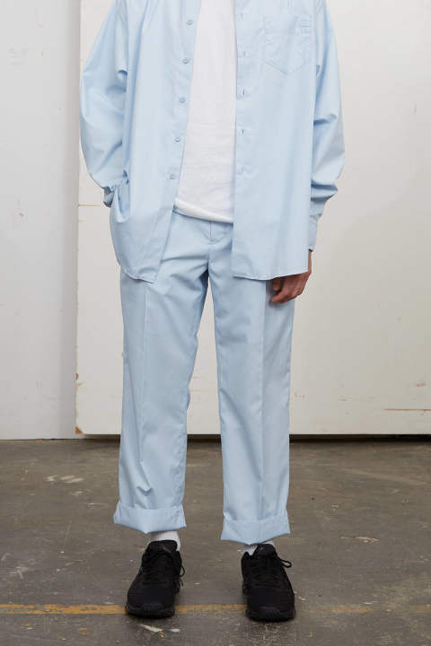 【3月上旬入荷予定】UN(I)FORM-STRAIGHT PANTS(LIGHT BLUE)
