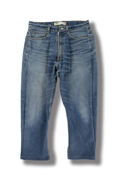 RE:CONSTRUCTED ZIPPED JEANS(BLUE DENIM)