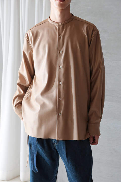 OVERSIZED STRING SHIRTS(CAMEL)
