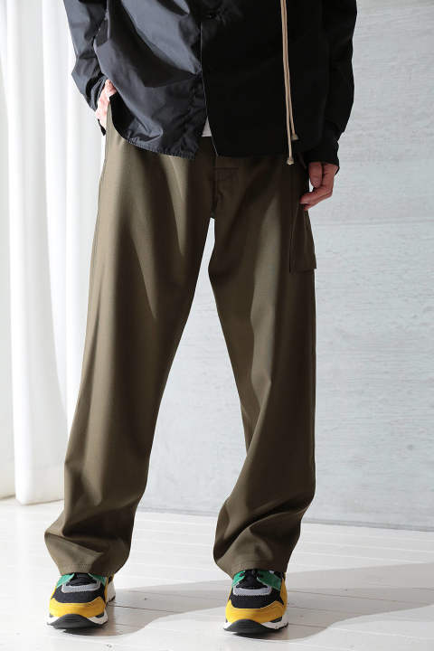 【ラスト1点】FRESCO WOOL CARGO PANTS(DARK OLIVE)