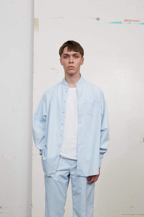 【ラスト1点】UN(I)FORM-SHIRTS(LIGHT BLUE/B)