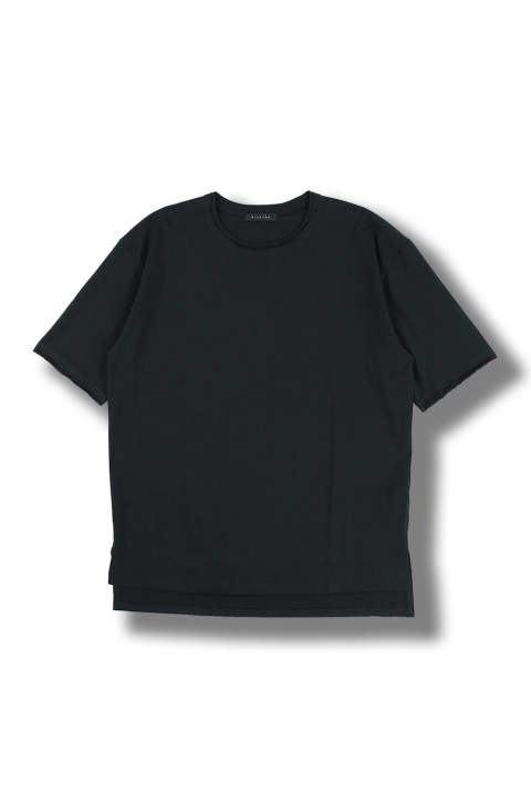 BASIC PLAIN T-SHIRT(BLACK)