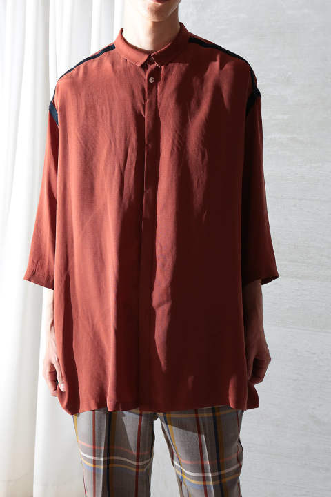 dark red wide shirts