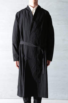 BEAUTIFUL ORGANIC COTTON HAORI ROBE(BLACK)