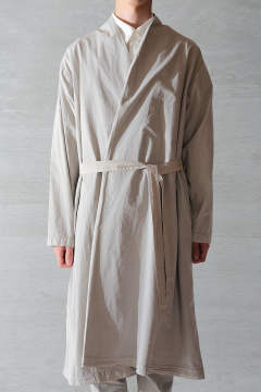 BEAUTIFUL ORGANIC COTTON HAORI ROBE(LIGHT SUMIKURO)