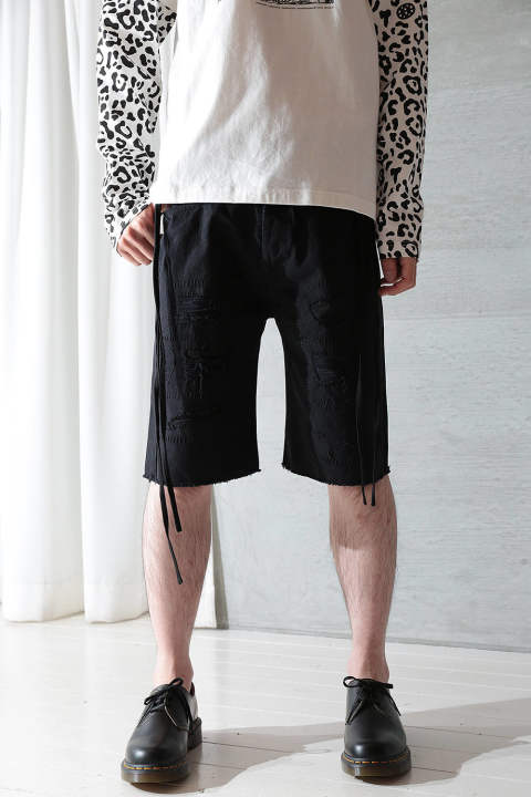KARATE SHORTS-BROKEN(BLACK)