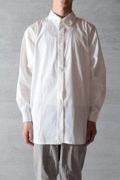 【ラスト1点】BEAUTIFUL ORGANIC COTTON SHIRT(WHITE)