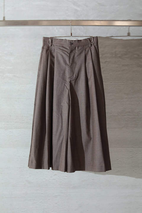 LOOSE PANTS(BROWN PINSTRIPE)