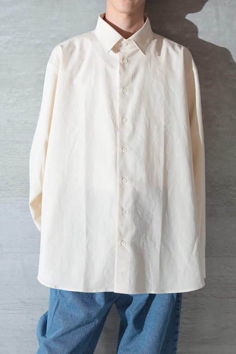 【ラスト1点】OPEN BACK SHIRT(WASH COTTON)