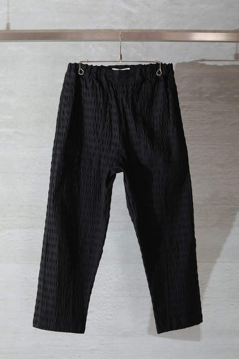 KAIL PANTS(BLACK SEERSUCKER)