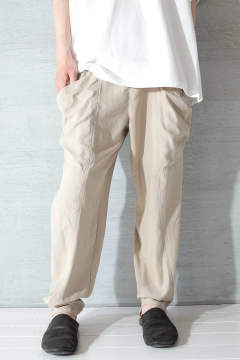 【ラスト1点】DYED TASLAN TUCK TAPERED PT(BEIGE)
