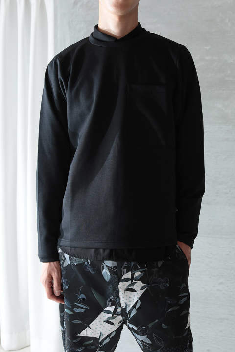 【再入荷/ラスト1点】BIG POCKET LONG T-SHIRT(BLACK)