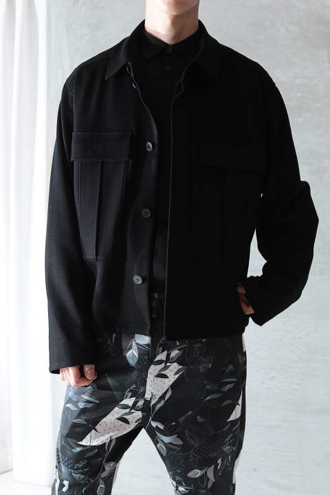 【ラスト1点】BIG DOUBLE POCKET BLOUSON(BLACK)