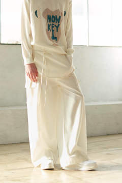 【ラスト1点】WIDE APRON PANTS(WHITE)
