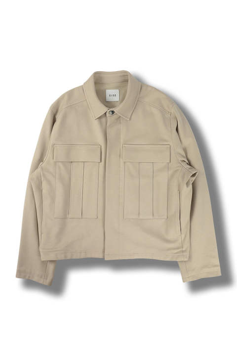 BIG DOUBLE POCKET BLOUSON(BEIGE)