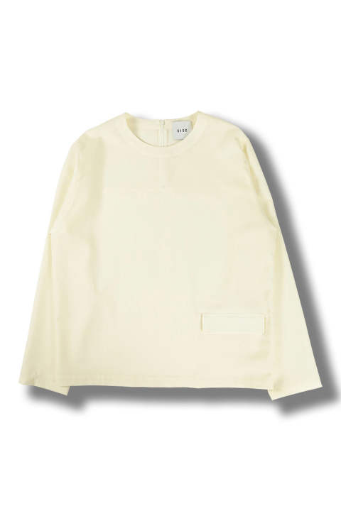 PULLOVER LONG SLEEVES TOP(WHITE)