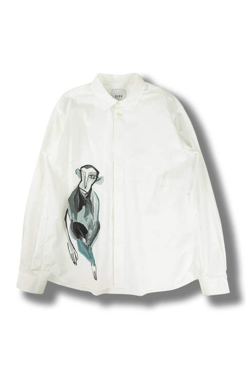 【ラスト1点】MONKEY BASIC SHIRT(WHITE)